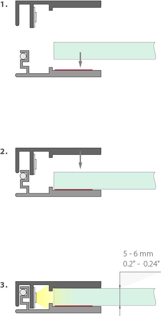 Led profil KLUS KRAV 56 - montáž