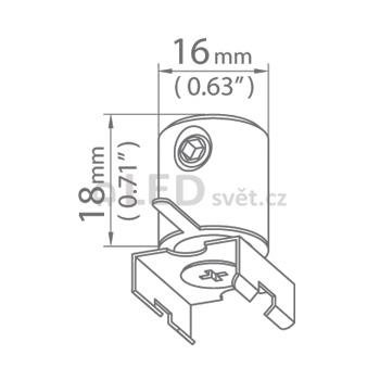 Závěska DP-MOC-ZZ slouží k uchycení profilů a svítidel na lanka nebo pruty. Zároveň přivádí z vnější strany napětí do svítidla (profilu).