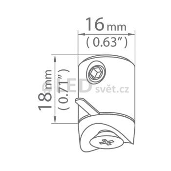 Závěska DP-ZZ-PDS-O slouží k uchycení svítidel a profilu PDS-O na lanka nebo pruty.