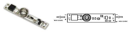Vypínač do LED profilu kapacitní LUX D modrý   (3204024602)