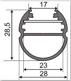 Led osvětlení šatní tyče pomocí al. profilu