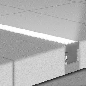 KLUS LED profil HR LINE surový hliník bez krycí lišty