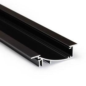Profil WIRELI FLAT H/UX černá anoda 2m (Wireli31)