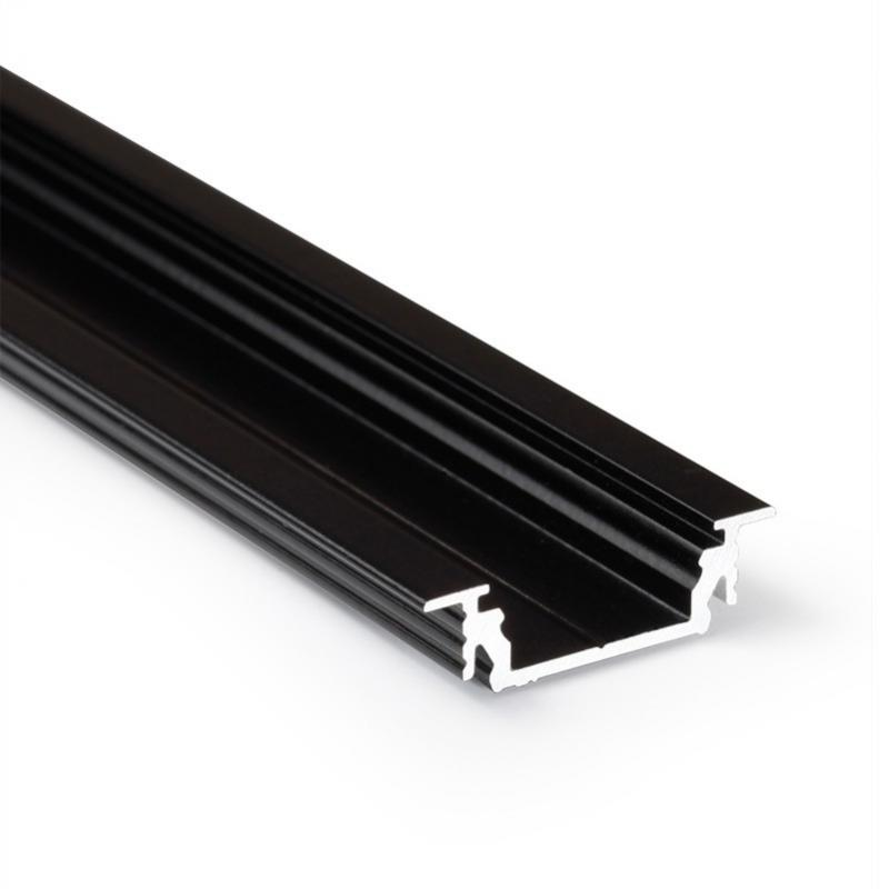 Profil GROOVE LINE 14 černá anoda 2000mm