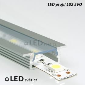 LED profil 102 EVO - bez krytky