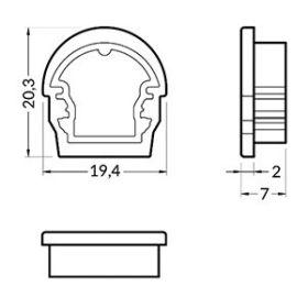 Koncovka UNI12-D stříbrná, pár