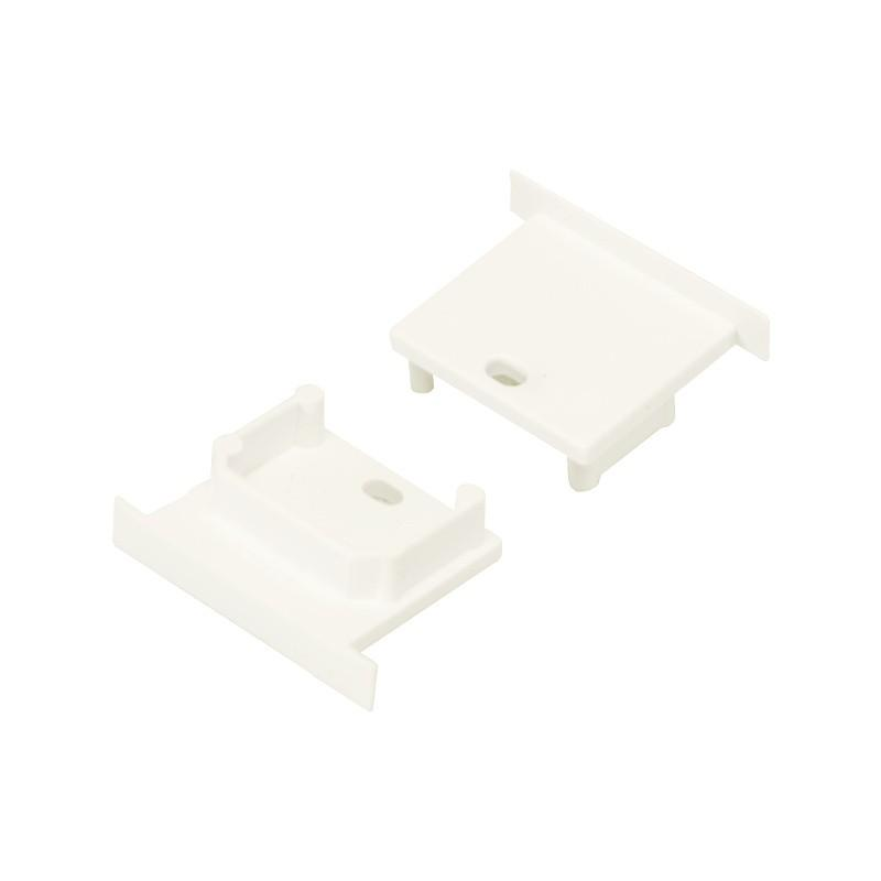 Koncovka SMART-IN10 bílá s otvorem pro kabel, pár