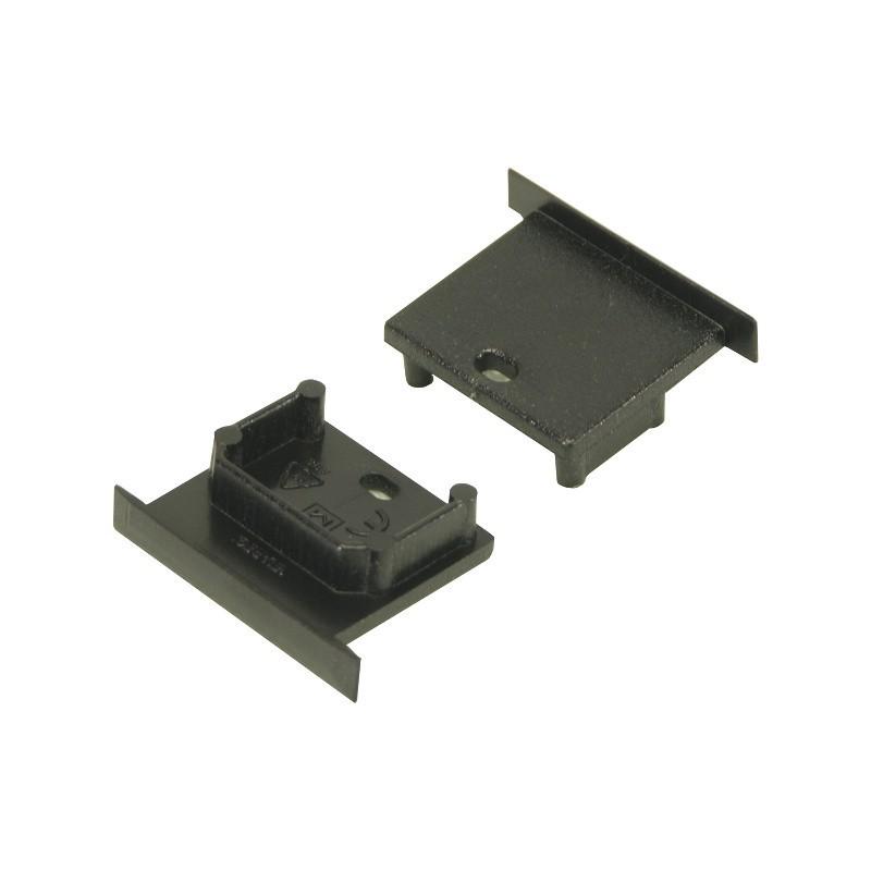 Koncovka SMART-IN10 černá s otvorem pro kabel, pár