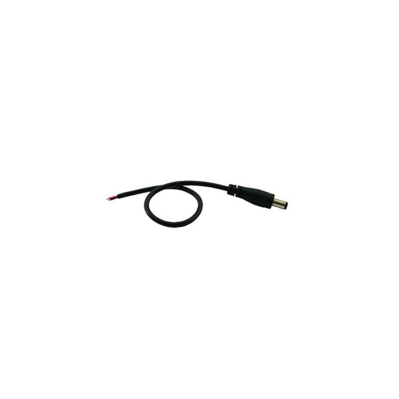 Kabel DC JACK 5.5/2.1 samec - drát 100 cm černý