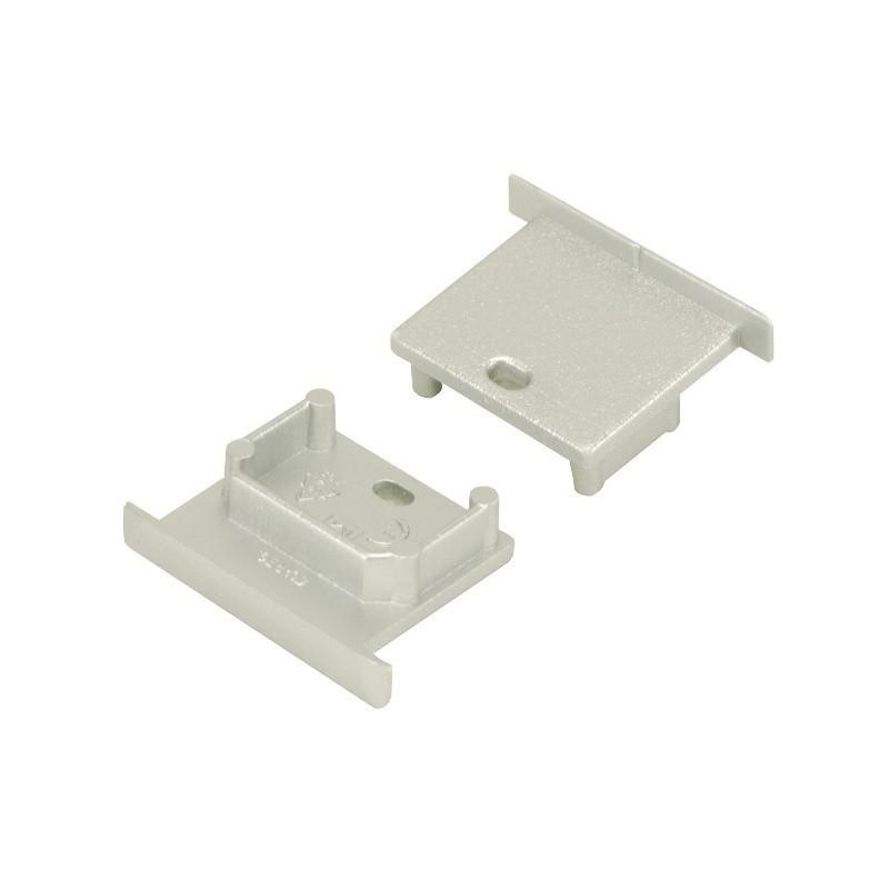 Koncovka SMART-IN10 šedá s otvorem pro kabel, pár