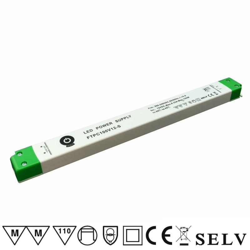 ZDROJ POS POWER SLIM FTPC100V12-S, 12V 8.3A 100W