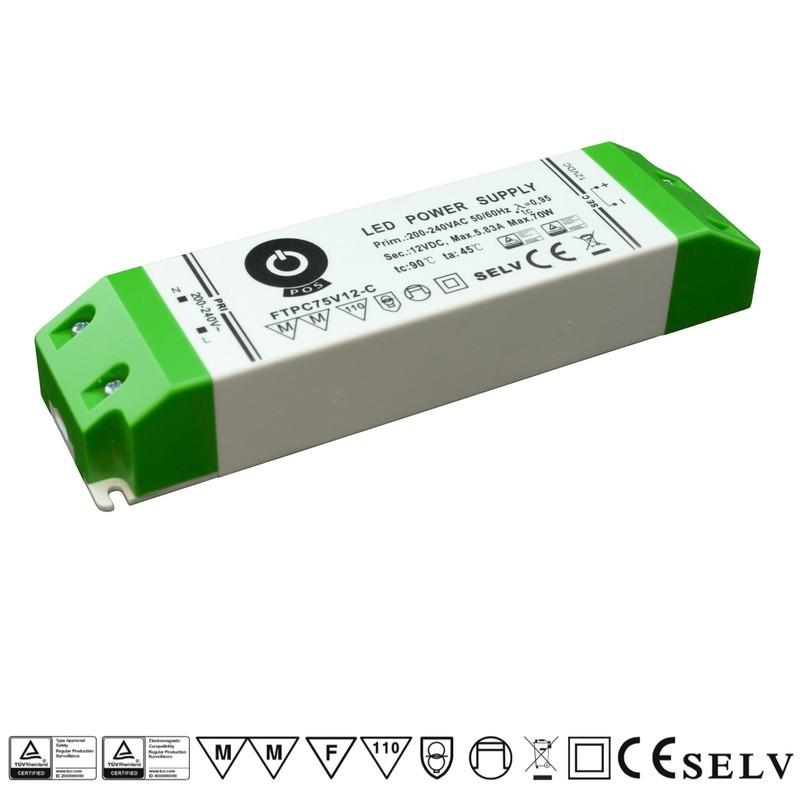 Napěťový zdroj POS FTPC75V12-C 12V 8.83A 70W