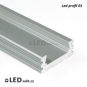 LED profil č.1 bez krytky