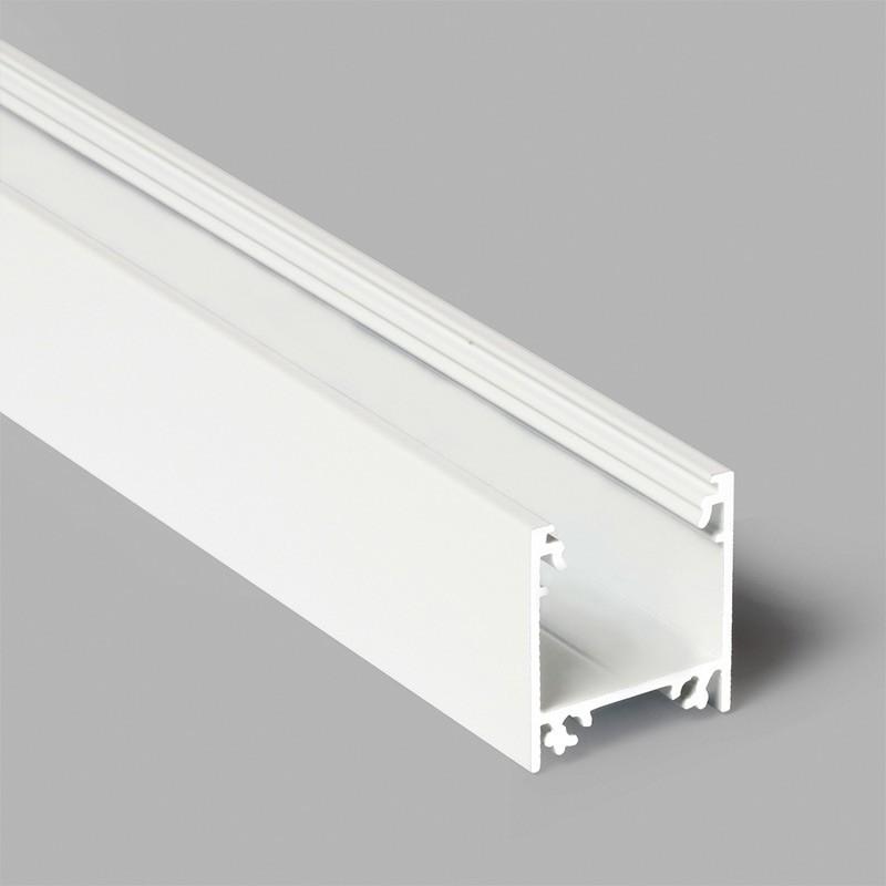 Profil WIRELI LINEA20 EF/TY bílý komaxit 2m (metráž)