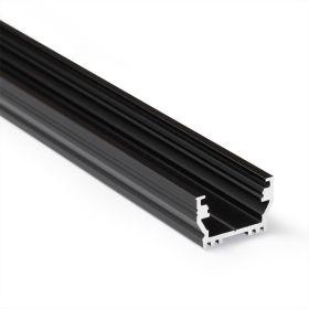 Profil WIRELI UNI12 BCD/U anoda černá 2000mm (metráž)