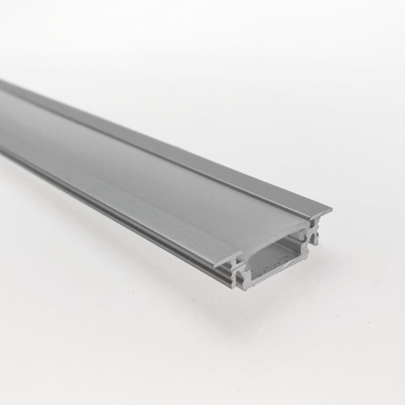 "Odřezek 30cm - LED profil GROOVE10 BC/UX s difuzorem ""C"" opál"