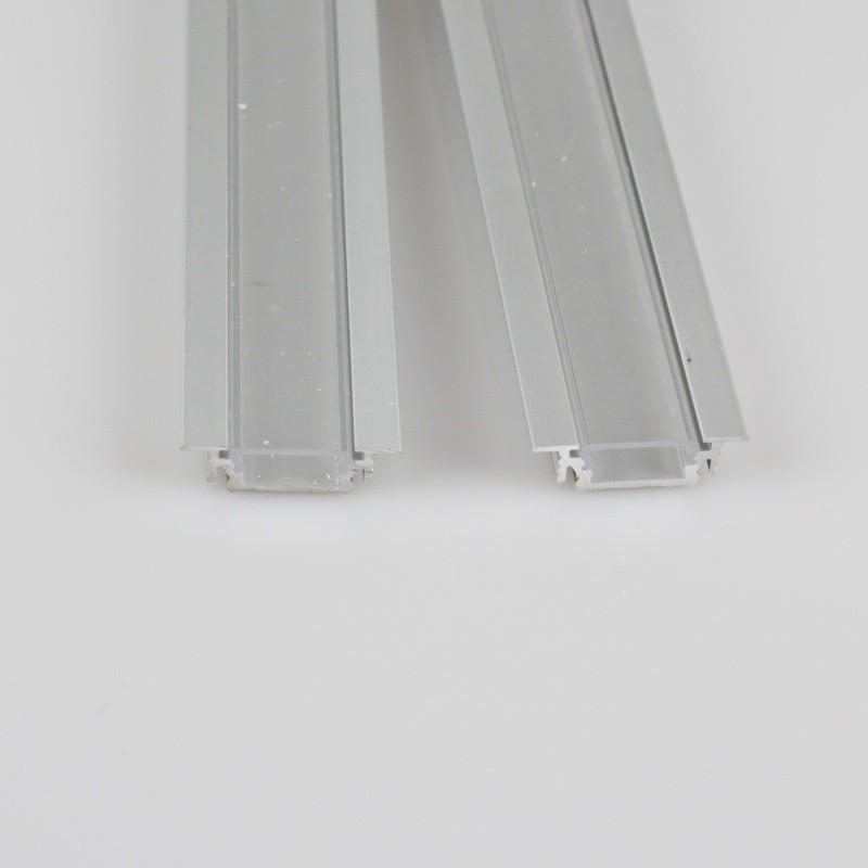 "Odřezek 20cm - LED profil GROOVE10 BC/UX s difuzorem ""C"" opál"
