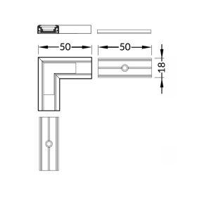 Rohová spojka 90° lišty W11 SURFACE  (1ks)