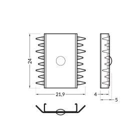 Montážní úchyt U INOX KOMBI do drážky 1ks (pro profily GROOVE, DEEP)