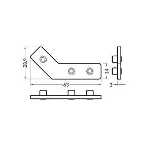 Montážní spojka Q 135° (Frame14 )