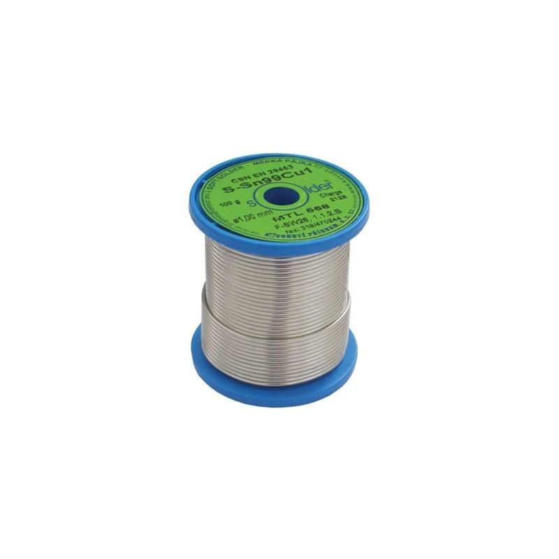 Cín 1.0mm 0.10kg Sn99Cu1 F1