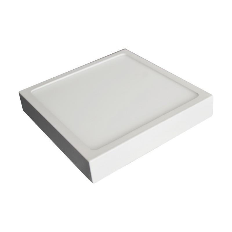 LED svítidlo stropní přisazené bílé 12W čtverec bílá teplá 900 lm