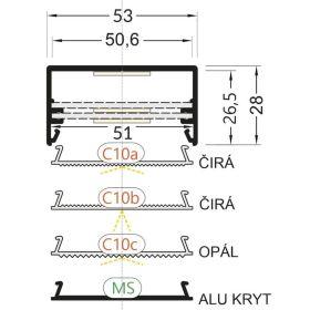 LED profil LOWI hliník elox l 2