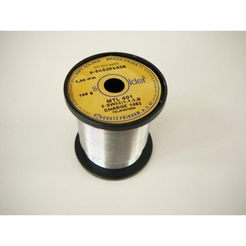Cín 1.0mm 0.10kg S-Sn60Pb40E/MTL401