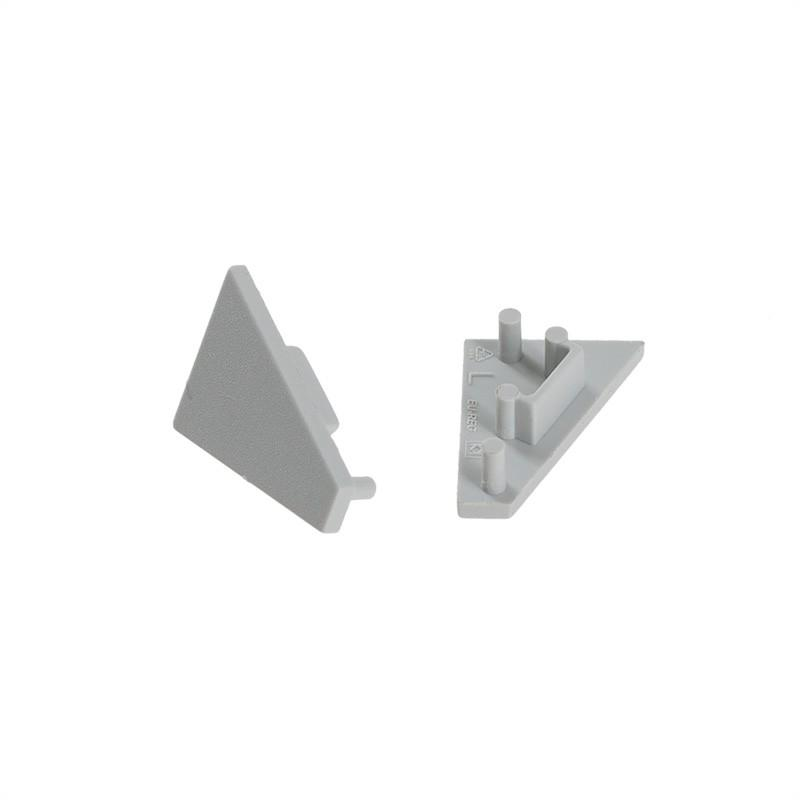 Koncovka CORNER10 šedá GEN2 (pár) - NOVÝ TYP