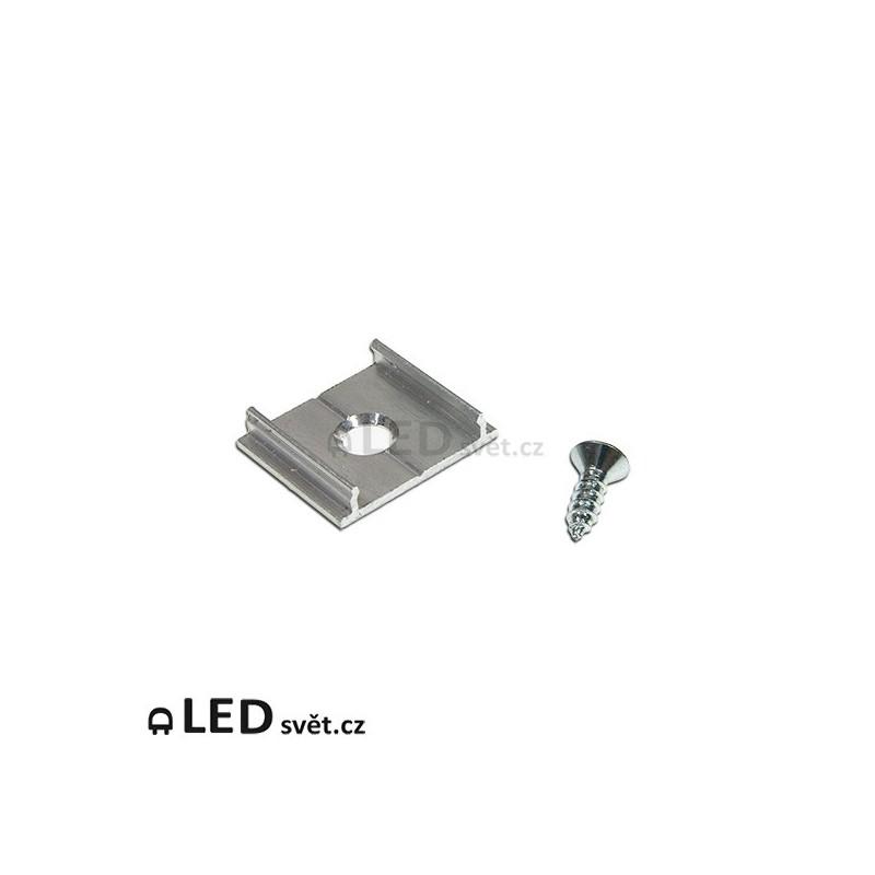Montážní úchyt X ALU kulatý otvor pro lištyč.11, 12, 60