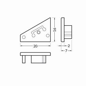 Koncovka CORNER10 stříbrná GEN2 (pár) - NOVÝ TYP