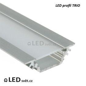LED profil TRIO10 BC/ 90/45° al. anod. l 2