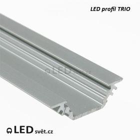 Rohový LED profil 45° D TRIO 90/45°  bez krytky