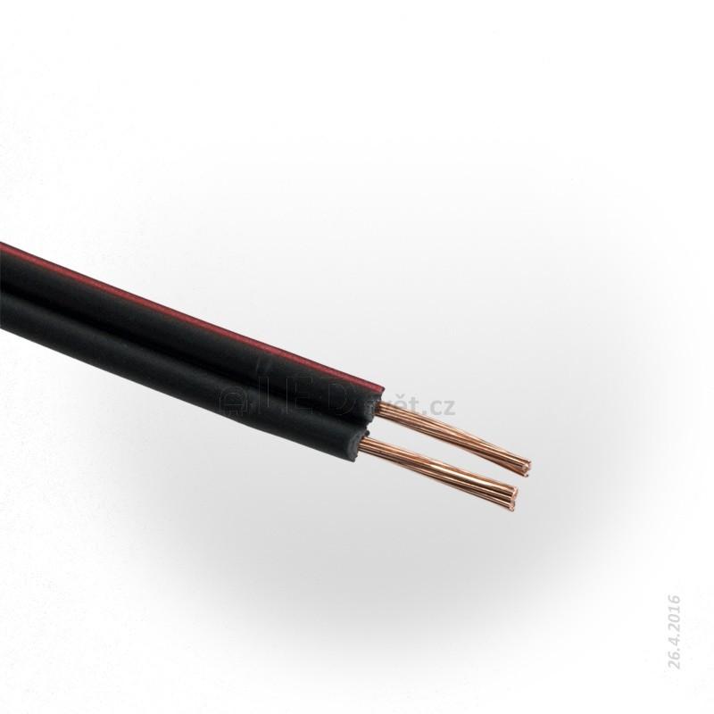 Dvojlinka 2x0.5mm, černo/rudá