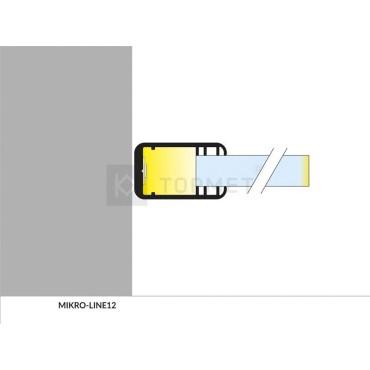 LED profil MIKRO-LINE12 J/- na sklo AL elox. l 2