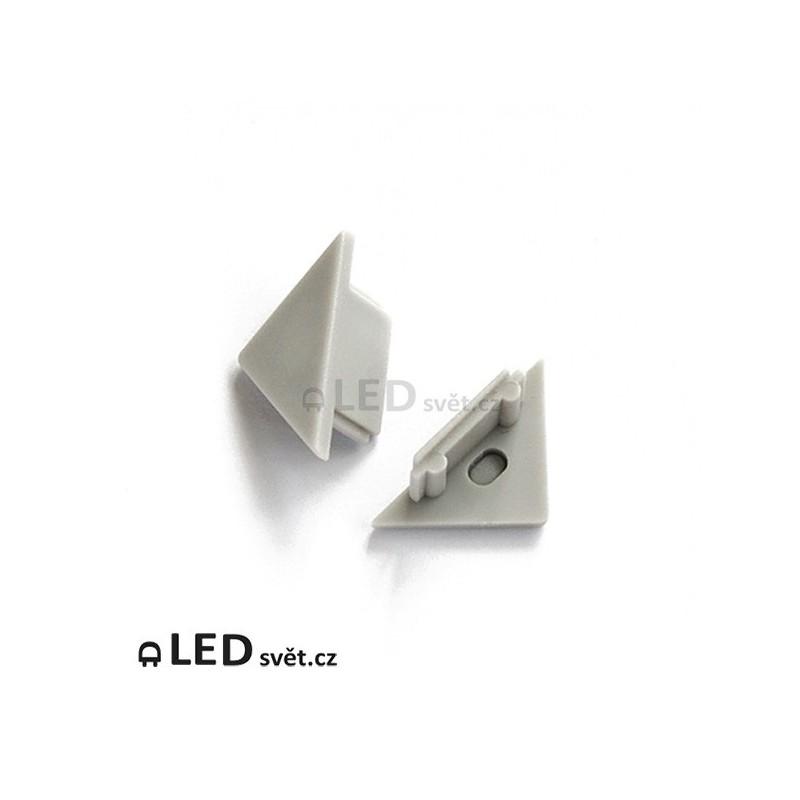 Koncovky rohové lišty TRIO 90/45° plast (pár)