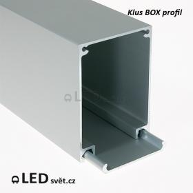 LED profil KLUS BOX ALU al. anod. - 1m