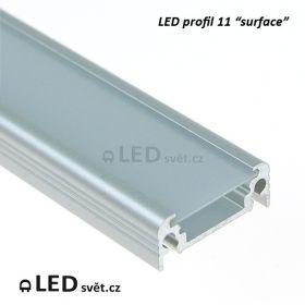 Odřezek 14,4cm - LED profil 11 s matnou krytkou