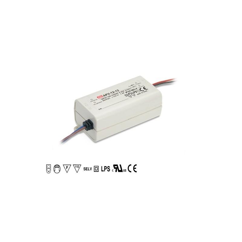 APV-12-12 Meanwell Napájecí zdroj pro LED 12V 12W