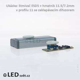 Stmívač ESD5 do profilu tlačítkový - 12/24V