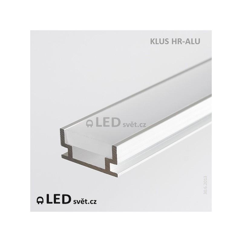 LED profil KLUS HR-ALU (bez krycí lišty) al. surový l 2