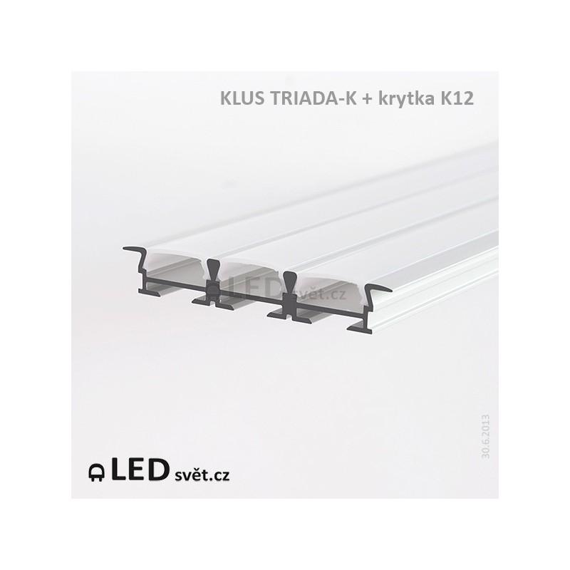 LED profil KLUS TRIADA-K al. anod. (bez krytek) l 2
