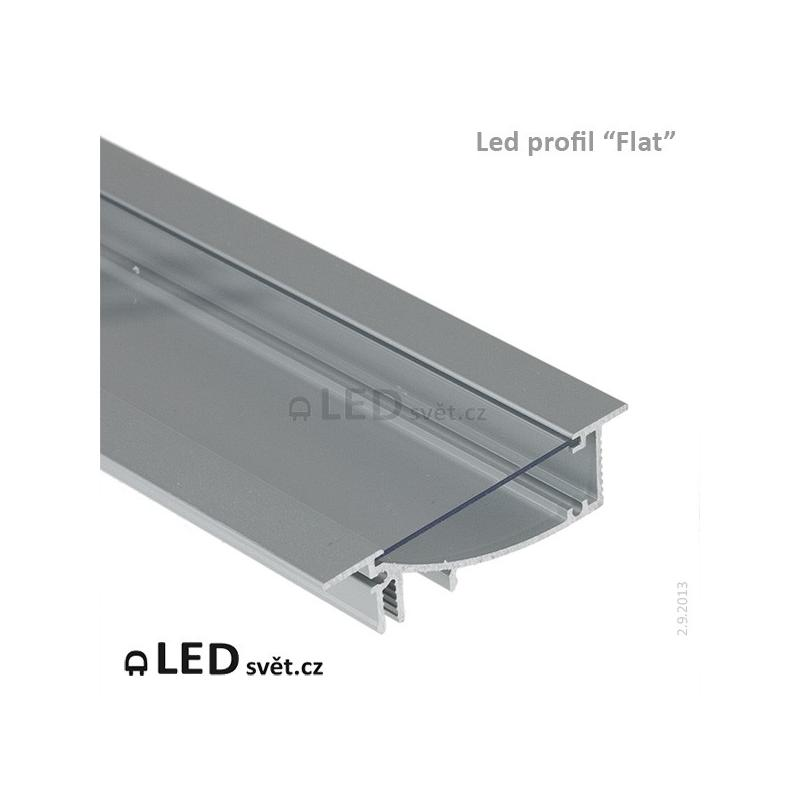 LED profil FLAT8 H/UX al. anod. l 2