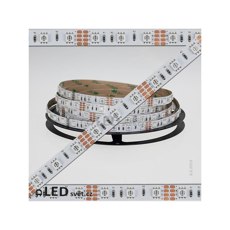RGB LED pásek 5050 60 LED/1m, IP20 | 5cm