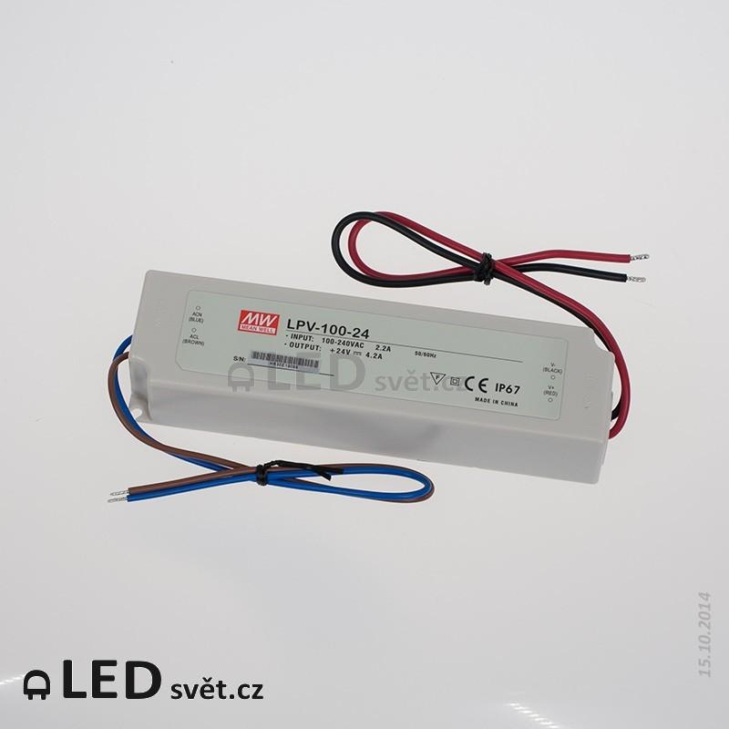 LPV-100-24 Meanwell Napájecí zdroj pro LED 100W 24V