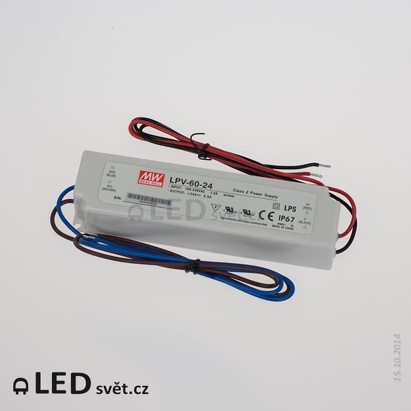 LPV-60-24 Meanwell Napájecí zdroj pro LED 60W 24V