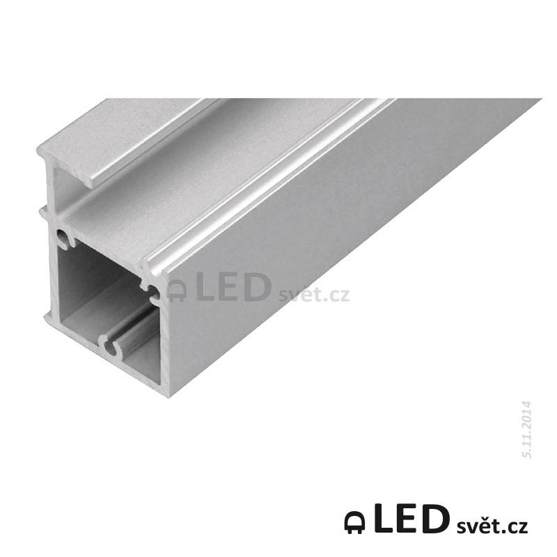 Lišta pro LED WIRELI GLASS KVADRAT 6/8 (30X45mm)