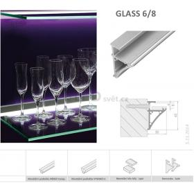 Lišta pro LED GLASS 6/8 (30X45mm)