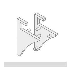 Koncovka KVADRAT GLASS 6/8 (1pár)