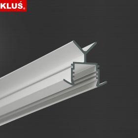 LED profil KLUS POR 1.05m al. anod. (bez krytky)